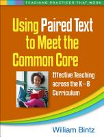 Using Paired Text to Meet the Common Core PDF