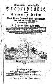 Oekonomische encyklopädie, oder Allgemeines system der staats- stadt- haus- u. landwirthschaft, in alphabetischer ordnung: Band 50