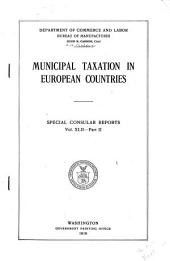 Municipal Taxation in European Countries