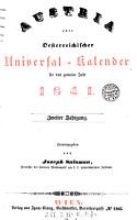 Austria oder Oesterreichischer Universal Kalender  Hrsg  von Joseph Salomon PDF