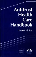 Antitrust health care handbook PDF