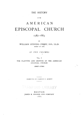 The History of the American Episcopal Church, 1587-1883: Volume 1