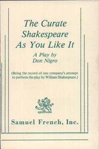The Curate Shakespeare As You Like it Book