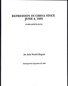 Repression in China Since June 4  1989 Book