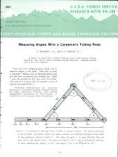 Measuring Angles with a Carpenter's Folding Ruler