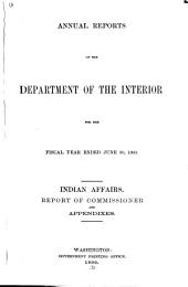 Annual Report of the Commissioner of Indian Affairs ...