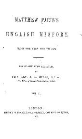 Matthew Paris's English history: From the year 1235 to 1273