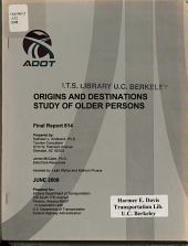 Origins and Destinations Study of Older Persons PDF