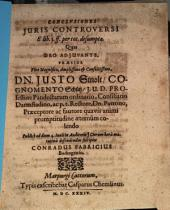 Conclusiones Iuris Controversi E lib. 3. ff. per tot. desumptae
