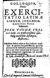 Colloquia, sive exercitatio latinae lunguae ¬Johannis ¬Ludovici ¬Vivis ¬Valentini