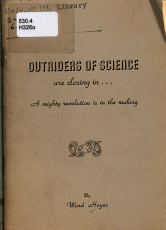 Outriders of Science are Closing in PDF