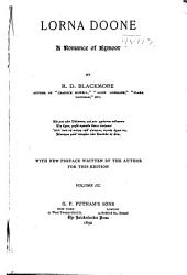 Lorna Doone: A Romance of Exmoor, Volume 3
