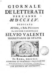 Notizie letterarie oltramontane [afterw.] Giornale de'letterati. Agosto/dec. 1742-1754