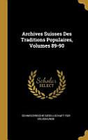 Archives Suisses Des Traditions Populaires PDF