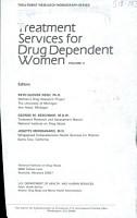 Treatment Services for Drug Dependent Women PDF
