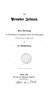 Der Prophet Jesaias, ein Vortrag