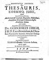 De thesauris eorumque jure respondente Tobia Staude