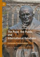 The Pope  the Public  and International Relations PDF