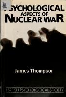 Psychological Aspects of Nuclear War PDF