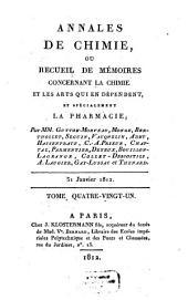 Annales de chimie ou recueil de mémoires concernant la chimie et les arts qui en dépendent et spécialement la pharmacie: Volume 81