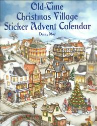 Old Time Christmas Village Sticker Advent Calendar Book PDF