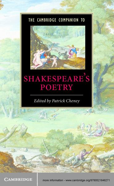Download The Cambridge Companion to Shakespeare s Poetry Book