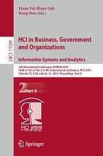 HCI in Business, Government and Organizations. Information Systems and Analytics