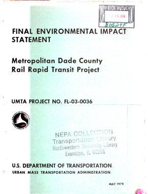 Dade County Metro Rail Transit PDF