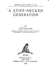 A Stiff-necked Generation