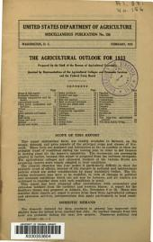 The Agricultural Outlook for 1933