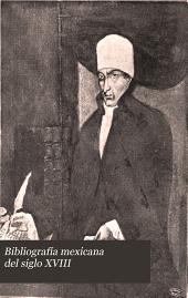 Bibliografía mexicana del siglo XVIII: Número 10
