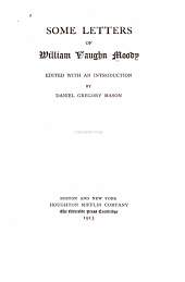 Some Letters of William Vaughn Moody