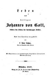 Leben des heiligen Johannes von Gott, Stifters des Ordens der barmherzigen Brüder