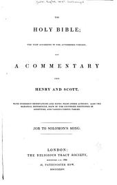 The Holy Bible: With the Text According to the Authorized Version, Volume 2