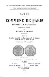 Actes de la Commune de Paris pendant la Révolution: 1 janvier-28 février 1791