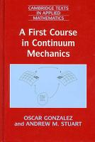A First Course in Continuum Mechanics PDF