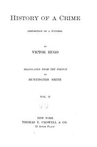 History of a Crime PDF