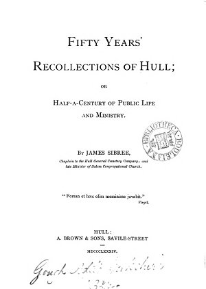 Fifty years  recollections of Hull  or Half a century of public life and ministry PDF
