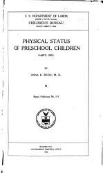 Physical Status Of Preschool Children Book PDF