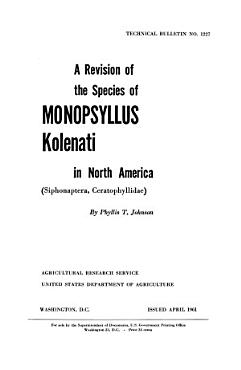 A Revision of the Species of Monopsyllus Kolenati in North America  Siphonaptera  Ceratophyllidae  PDF