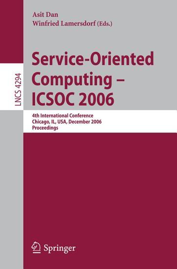 Service Oriented Computing   ICSOC 2006 PDF