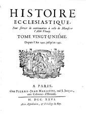 Histoire Ecclesiastique: Depuis l'An 1401. jusqu'en 1431, Volume21