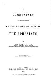 A Commentary on the Greek Text of the Epistle of Paul to the Ephesians