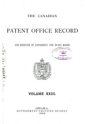 The Canadian Patent Office Record and Register of Copyrights and Trade Marks PDF