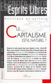 LE CAPITALISME EST-IL NATUREL ? : Politique et culture