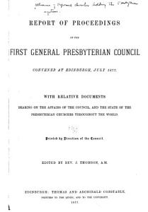 Proceedings of the     General Council PDF