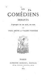 Les comédiens errants: à-propos en un acte, en vers