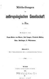 Mitteilungen der Anthropologischen Gesellschaft in Wien: MAG