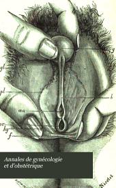 Annales de gynécologie et d'obstétrique: Volumes21à22