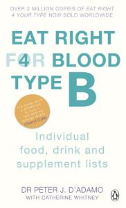 Eat Right For Blood Type B Book
